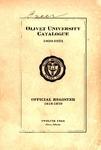 Olivet University Catalogue 1920-1921, Twelfth Year