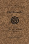 Olivet University Thirteenth Annual Catalogue 1921-1922