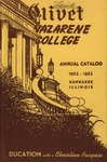 Olivet Nazarene College Annual Catalog 1952-1953