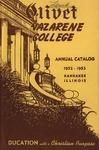 Olivet Nazarene College Annual Catalog 1952-1953