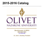 Olivet Nazarene University Annual Catalog 2015-16 by Olivet Nazarene University