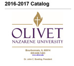Olivet Nazarene University Annual Catalog 2016-2017 by Olivet Nazarene University