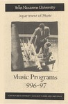 Department of Music Programs 1996 - 1997 by Department of Music