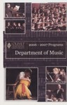 Department of Music Programs 2006 - 2007 by Department of Music