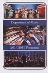 Department of Music Programs 2013 - 2014