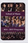 Department of Music Programs 2014 - 2015