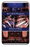 Department of Music Programs 2015-2016 by Department of Music
