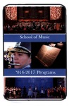 Department of Music Programs 2016-2017 by Department of Music