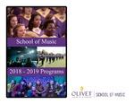 Department of Music Programs 2018-2019